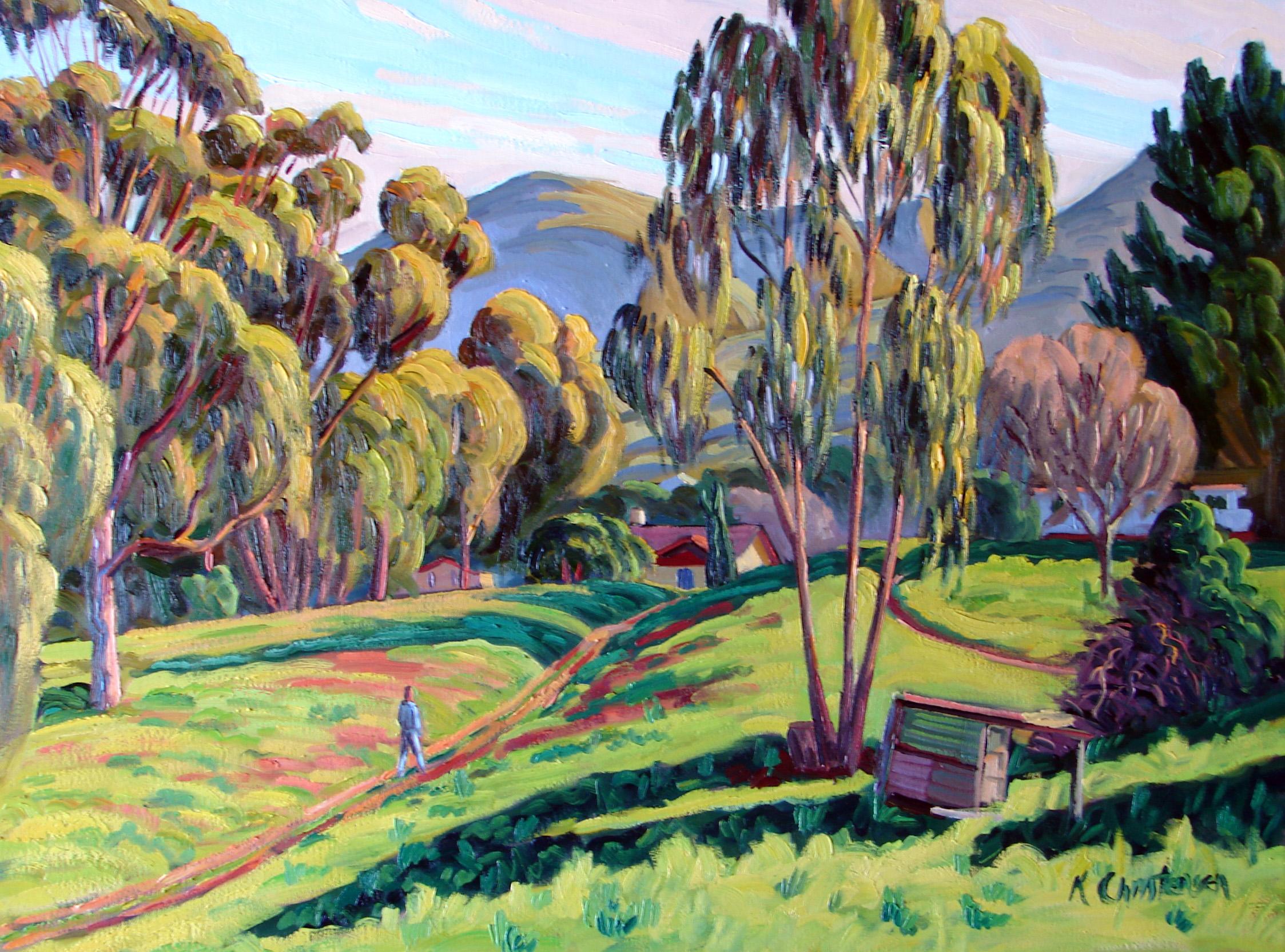 Path Among the Eucalyptus, oil, 30x40