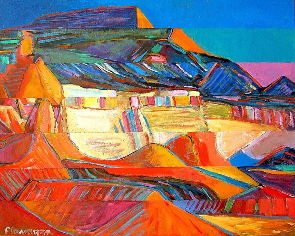 """BADLANDS  Acrylic on Canvas  30"""" x 24"""""""