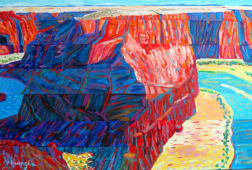 """ROCK OF AGES  Acrylic on Canvas  36"""" x 24"""""""