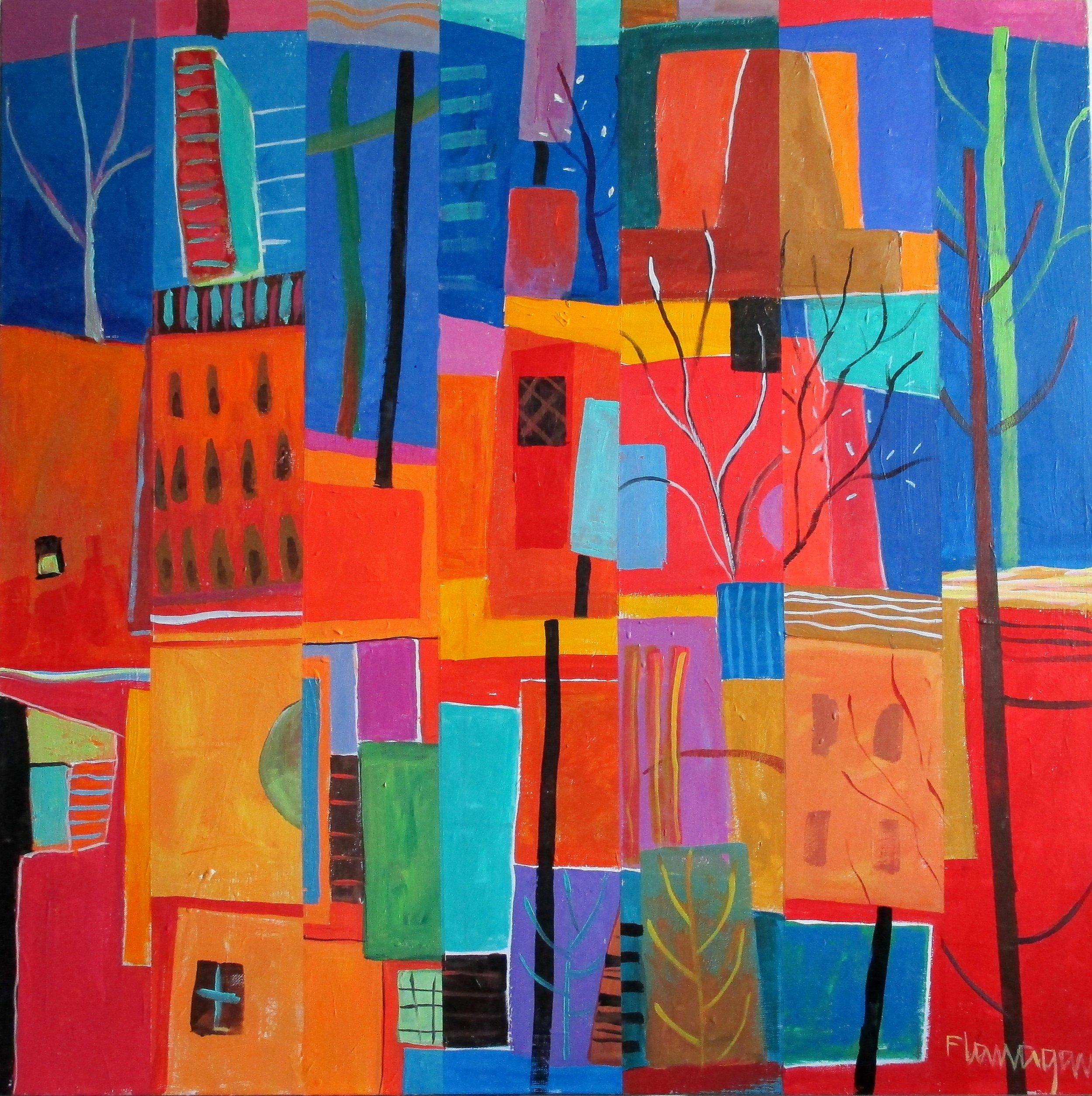 "HABITATS  Acrylic/Canvas  36"" x 36"""