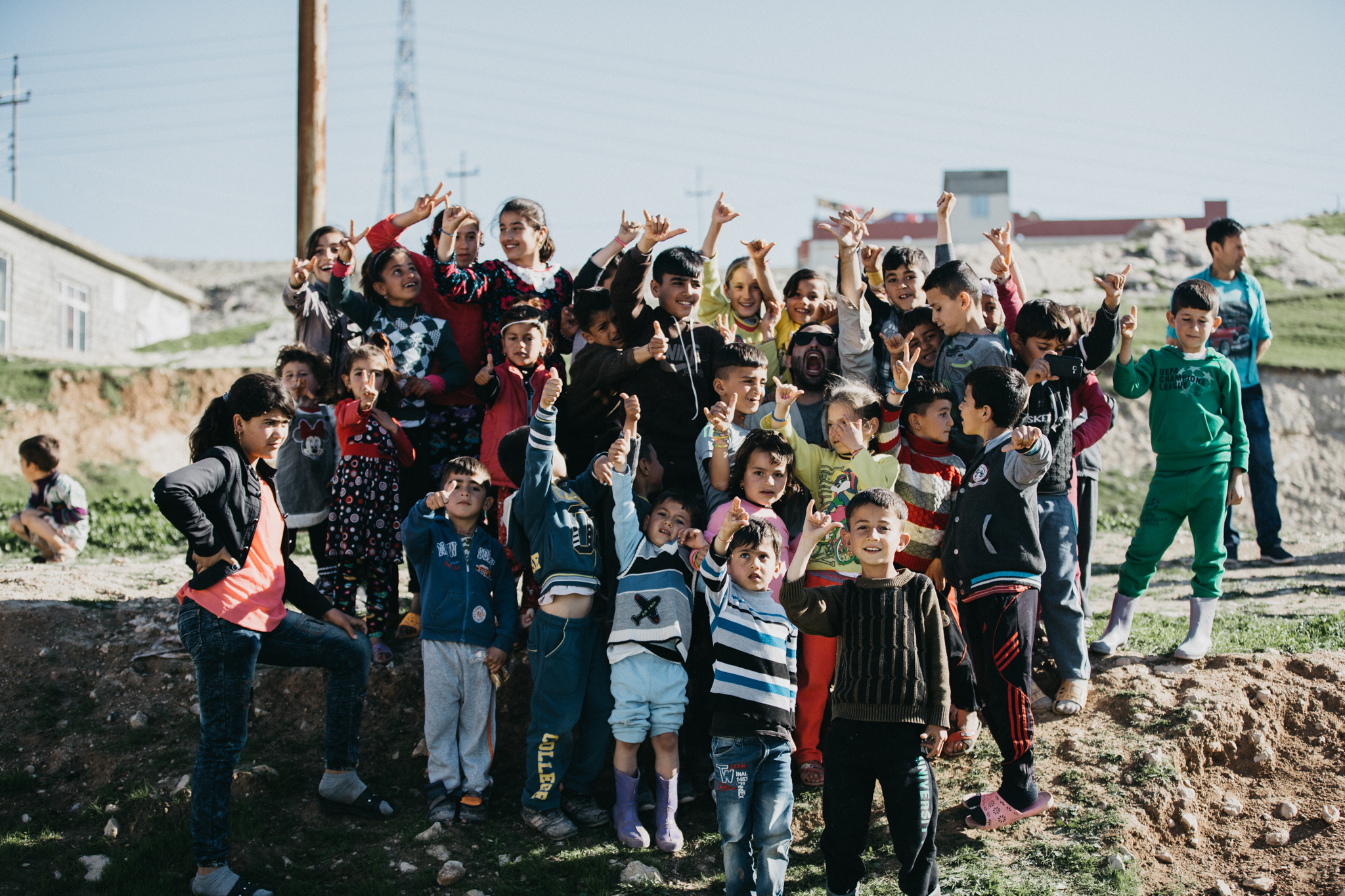 We spent the second half of our trip a few hours north in Dahok area. We visited many established IDP camps.