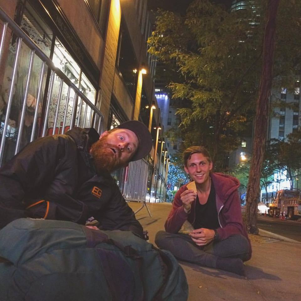 Jez and Florian. 4:30 am on W 49th ave. Midtown