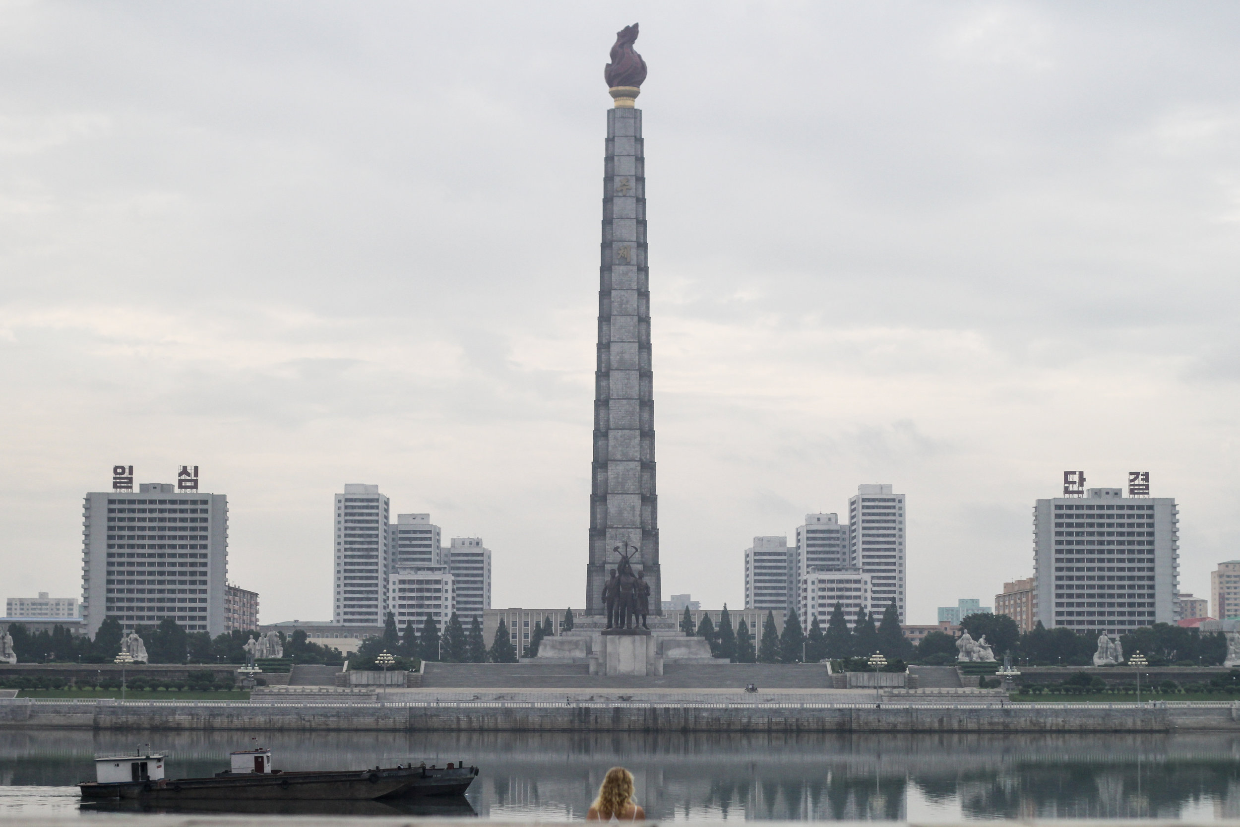 Pyongyang has lot's and lot's of wild monuments.