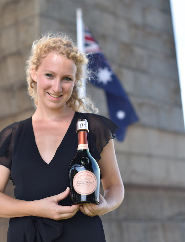 Champagne Laurent-Perrier's new brand ambassador for Australia and Asia Pacific, Caroline Desaulle.