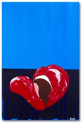 Avon.  24x36 inches. Acrylic on canvas.