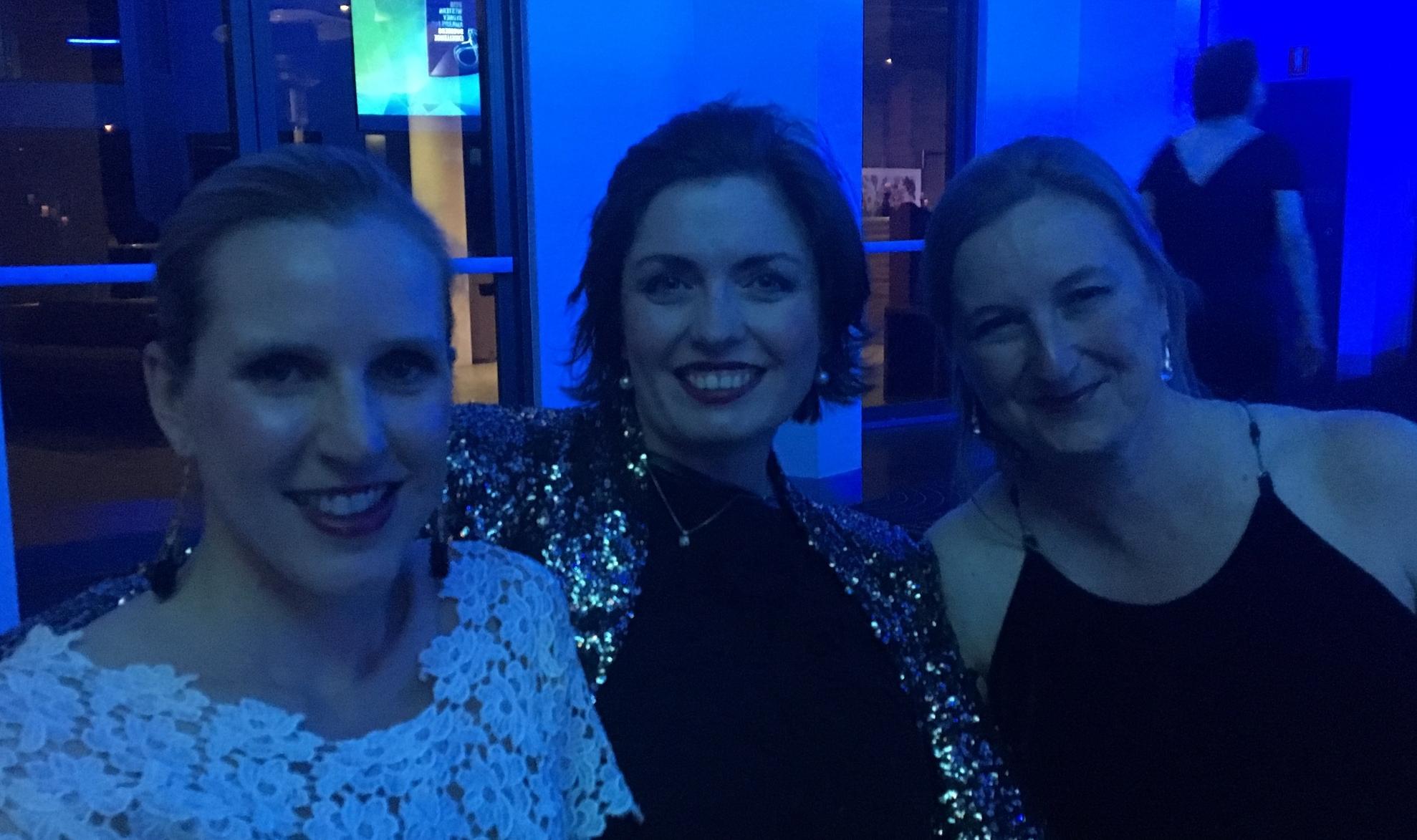 Sarah, me and Sheila enjoying the WSABEs on Friday night