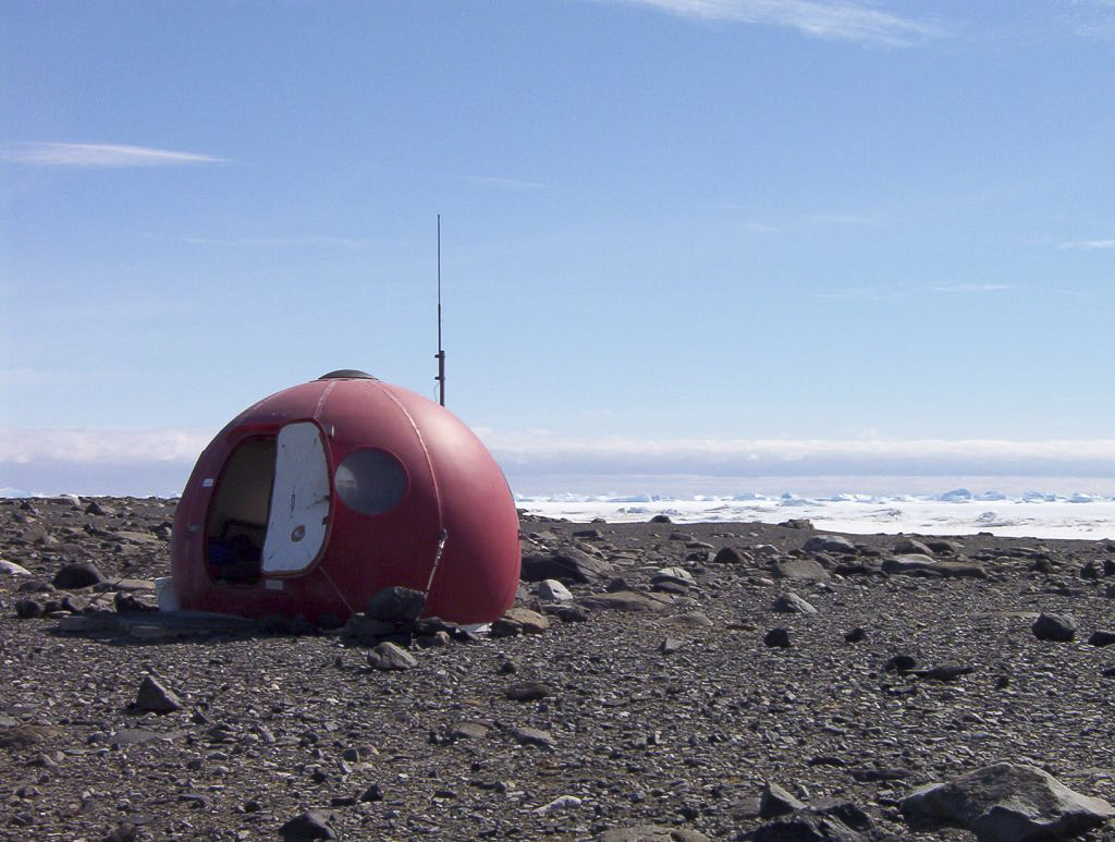 Hut at Rookery Lake, Davis Station, Antarctica.