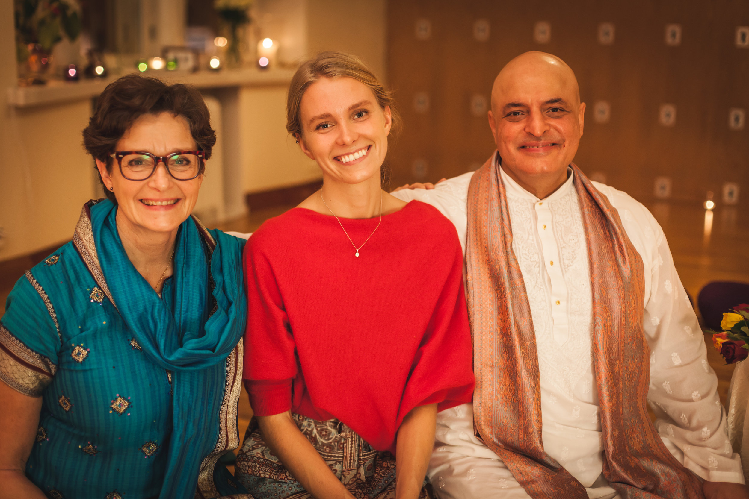 Sharing the wisdom of Purna Yoga. - With my dear teachers Tove Palmgren and Aadil Palkhivala.