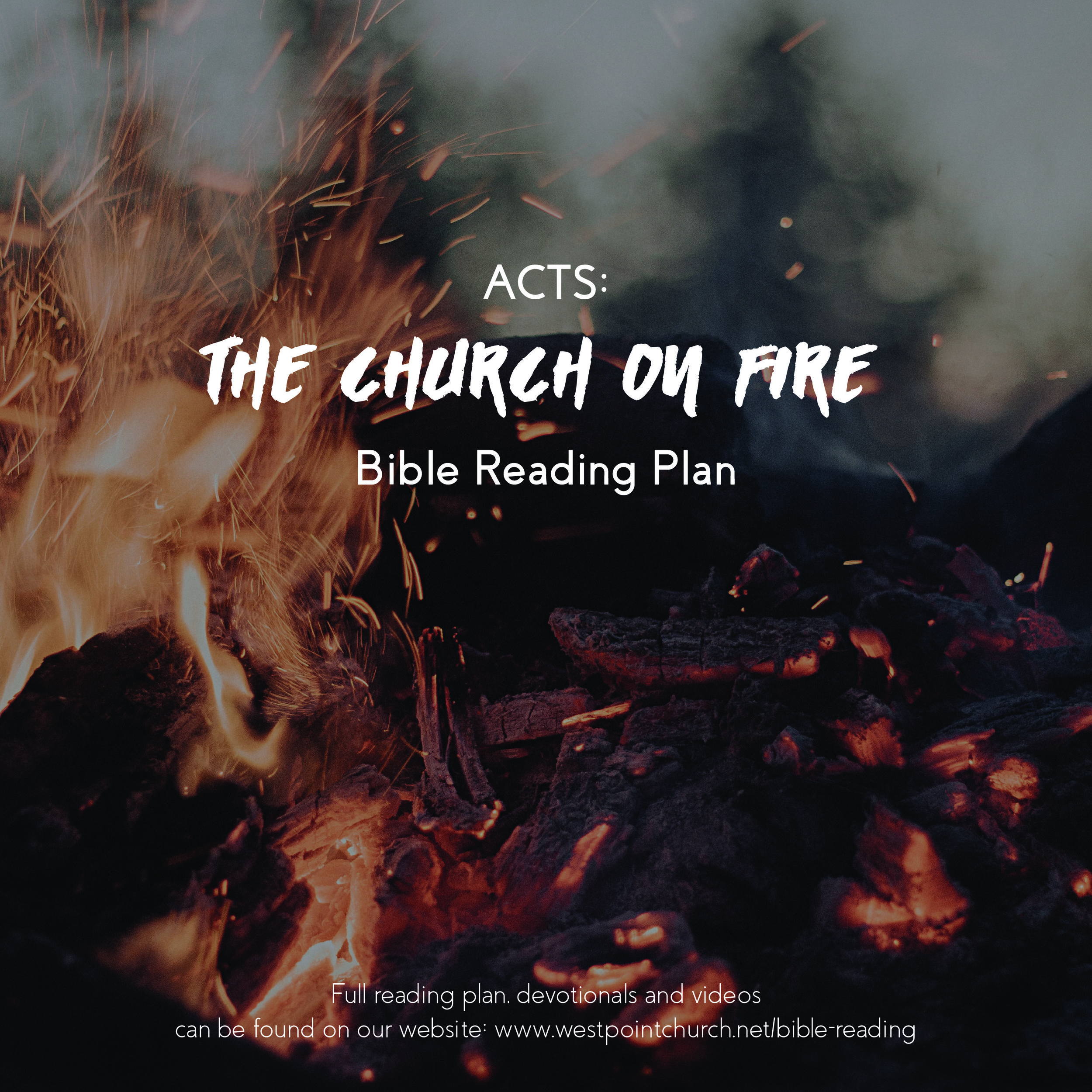 This plan will guide you in reading the Book of Acts and give you opportunity to hear what God is speaking to you personally. We are looking forward to reading this together with our church.