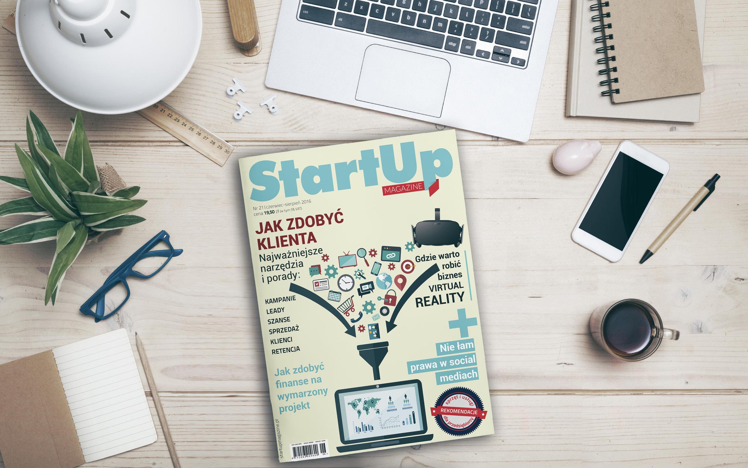 Aktualny numer StartUp Magazine - NR 21/2016