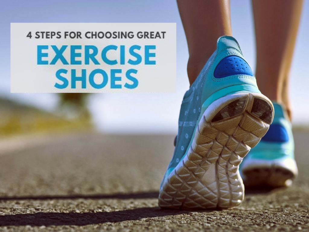 Click here to get a soft copy of this guide in selecting great exercise shoes!
