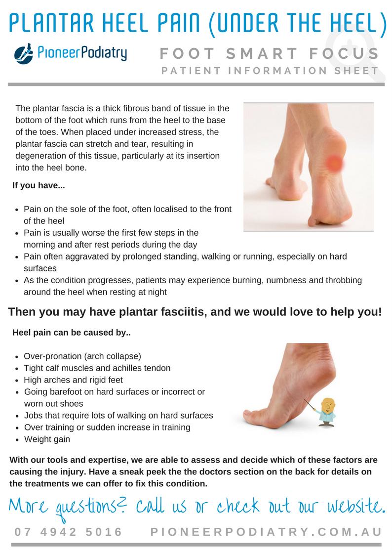 Patient Info Sheet for Plantar Heel Pain