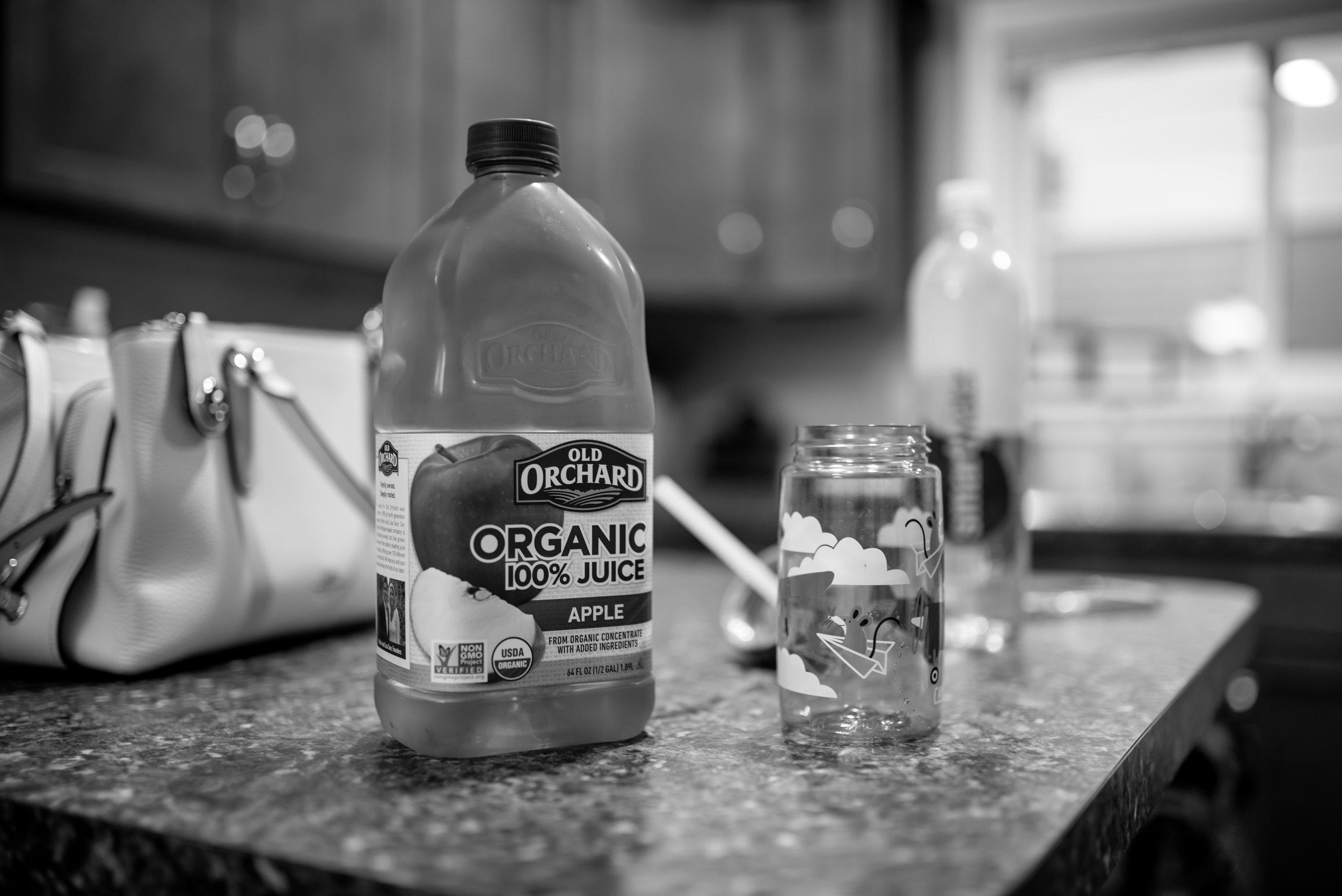 Apple juice before heart procedure