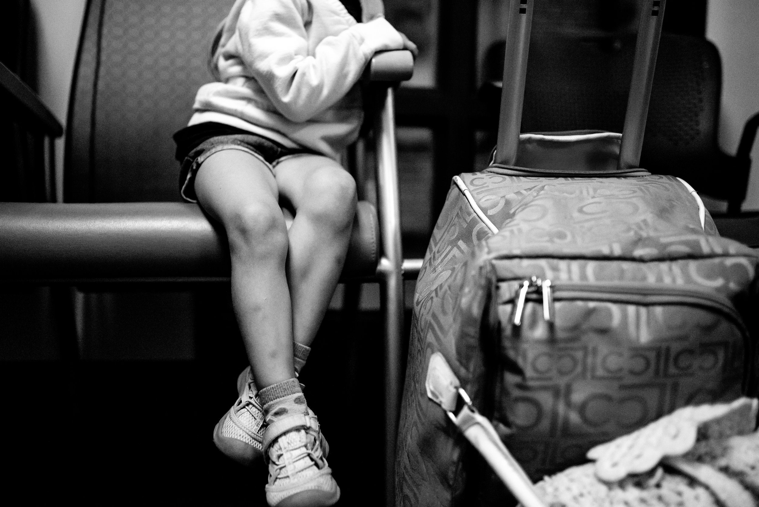 Girl waiting room children's hospital heart procedure