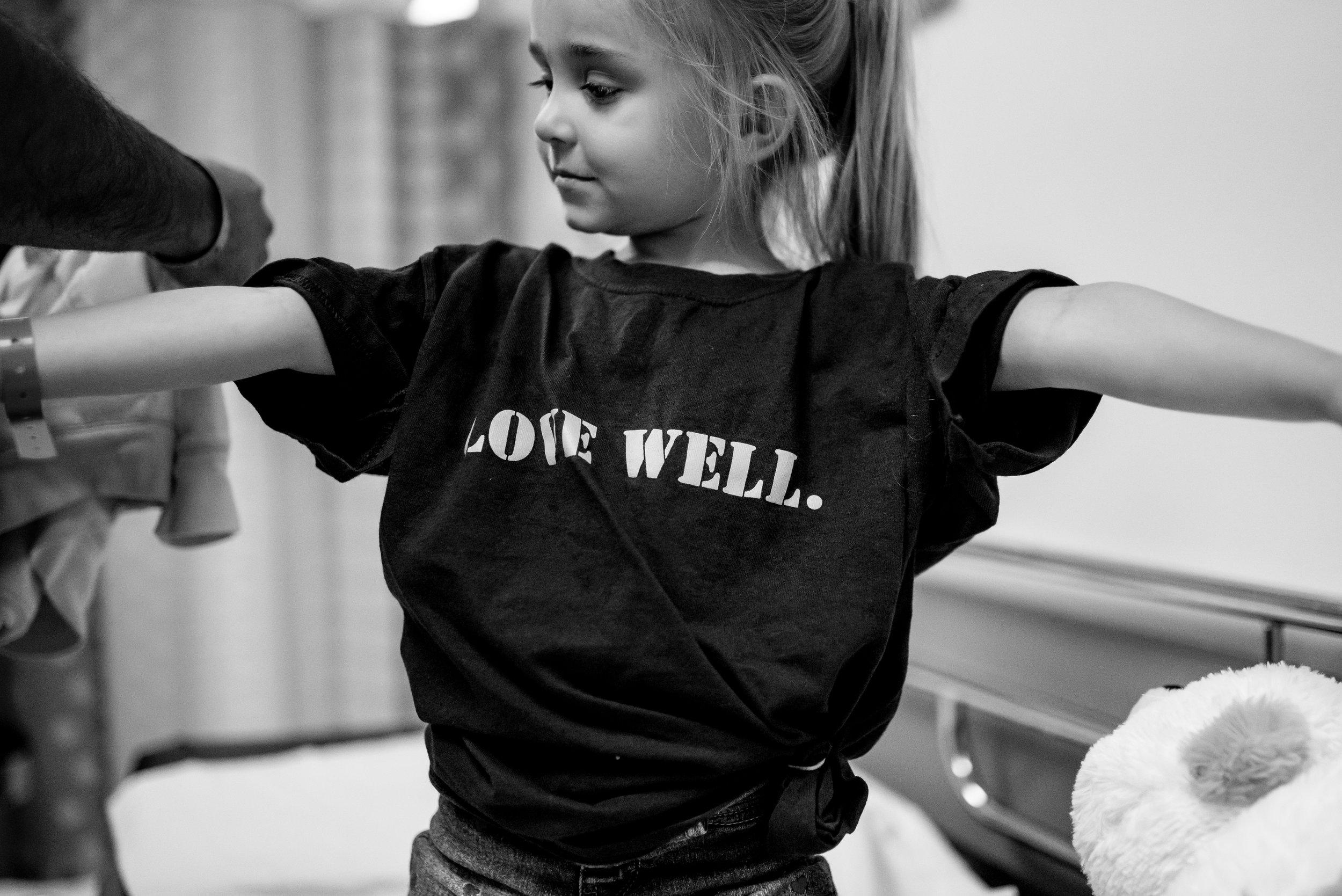 Little girl surgery prep children's hospital heart procedure