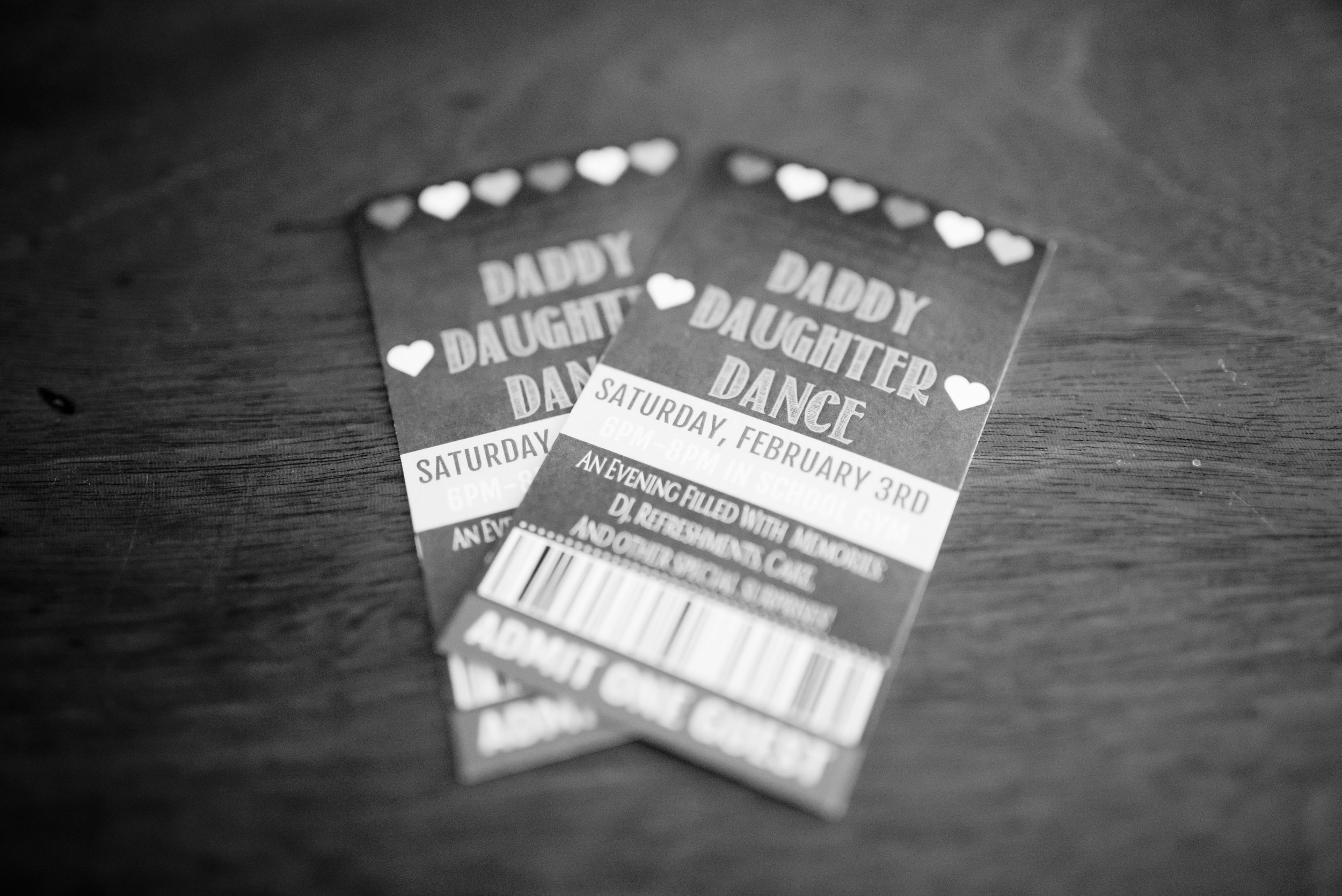 Tickets to Daddy Daughter Dance
