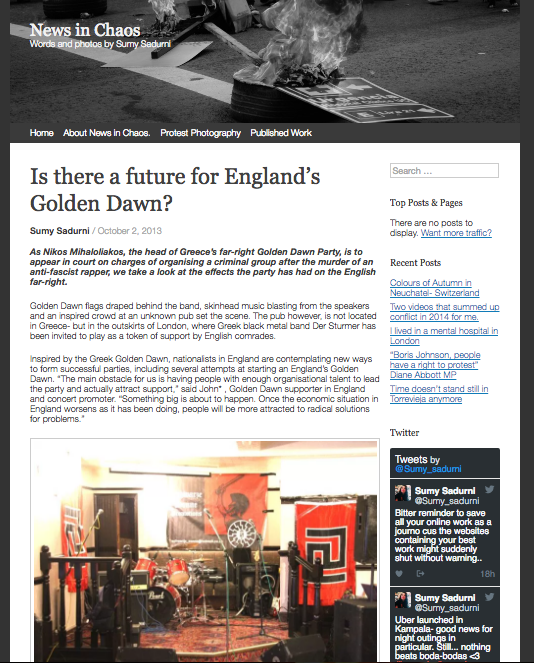 Is there a future for England's Golden Dawn? // NewsinChaos 2013