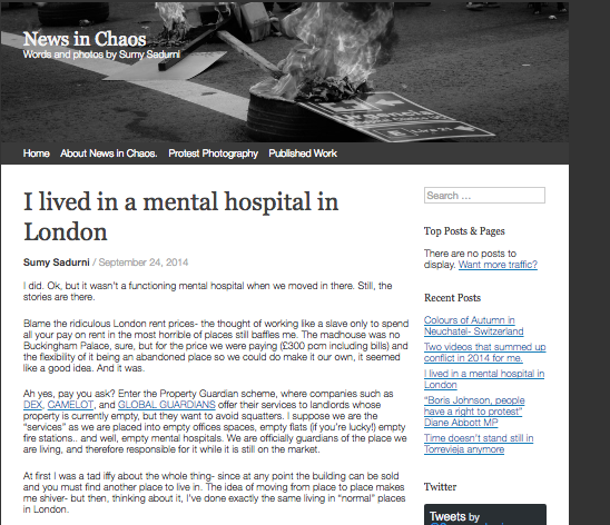 I lived in a mental Hospital in London // NewsinChaos 2014