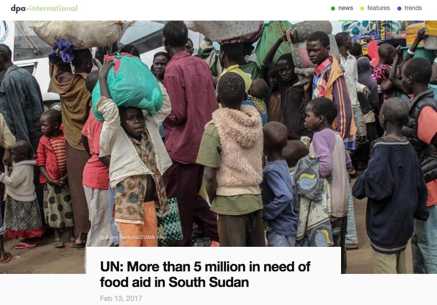 South Sudan Refugee Crisis // DPA 02.2017
