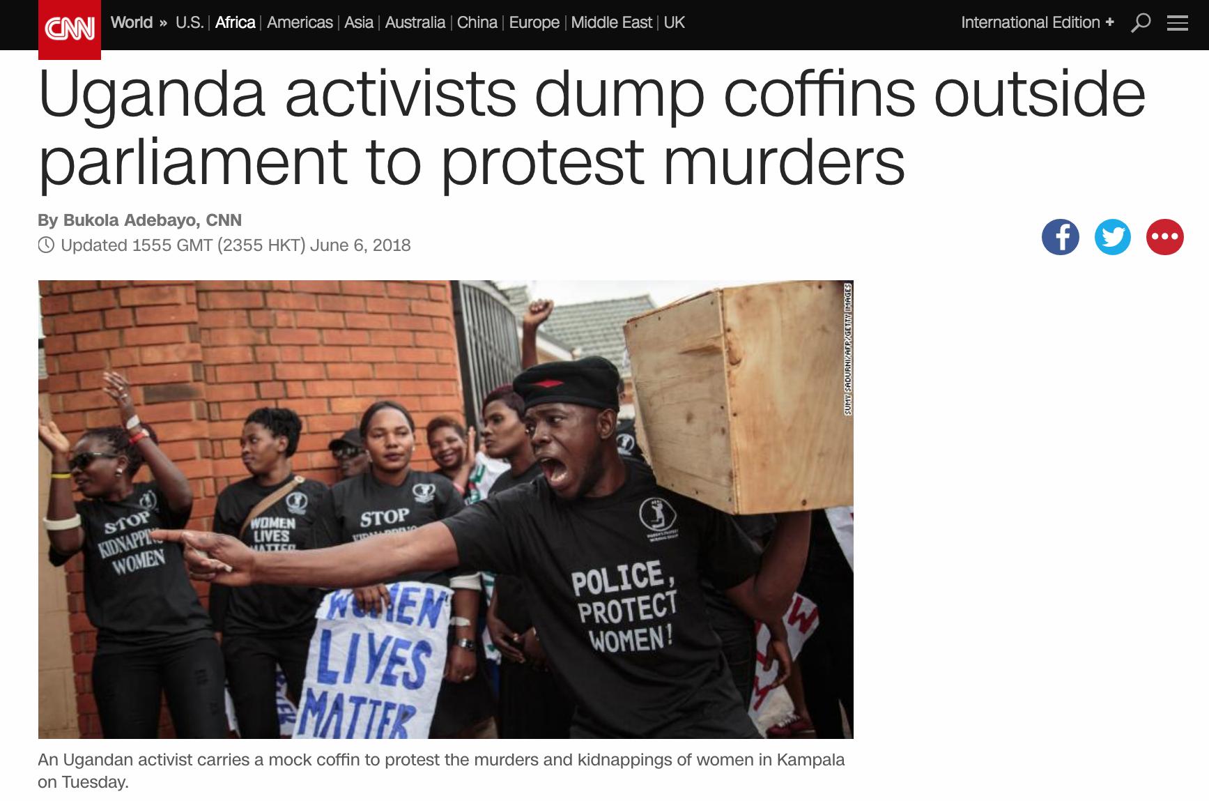 Women Lives Matter protests in Kampala // CNN // 06.2018