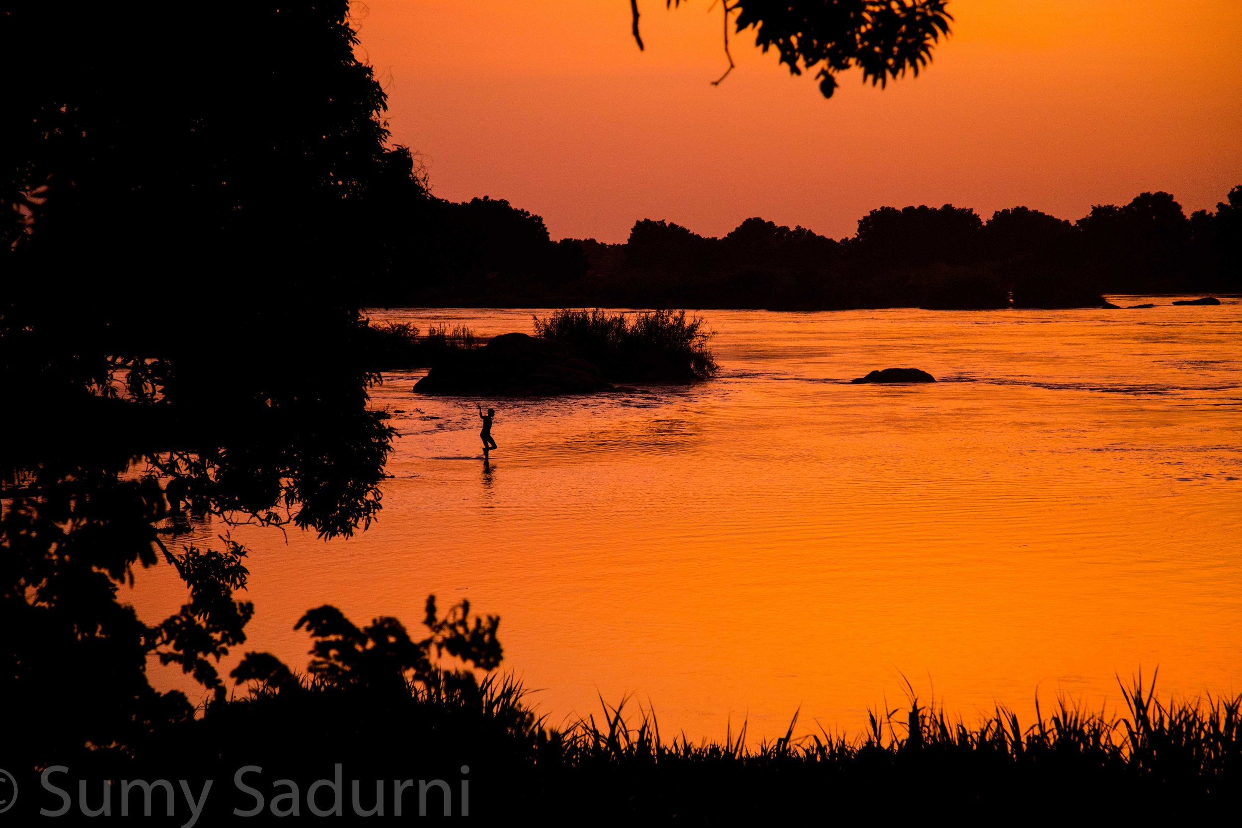 Print 15: Sunset on the Nile River, Juba, South Sudan.
