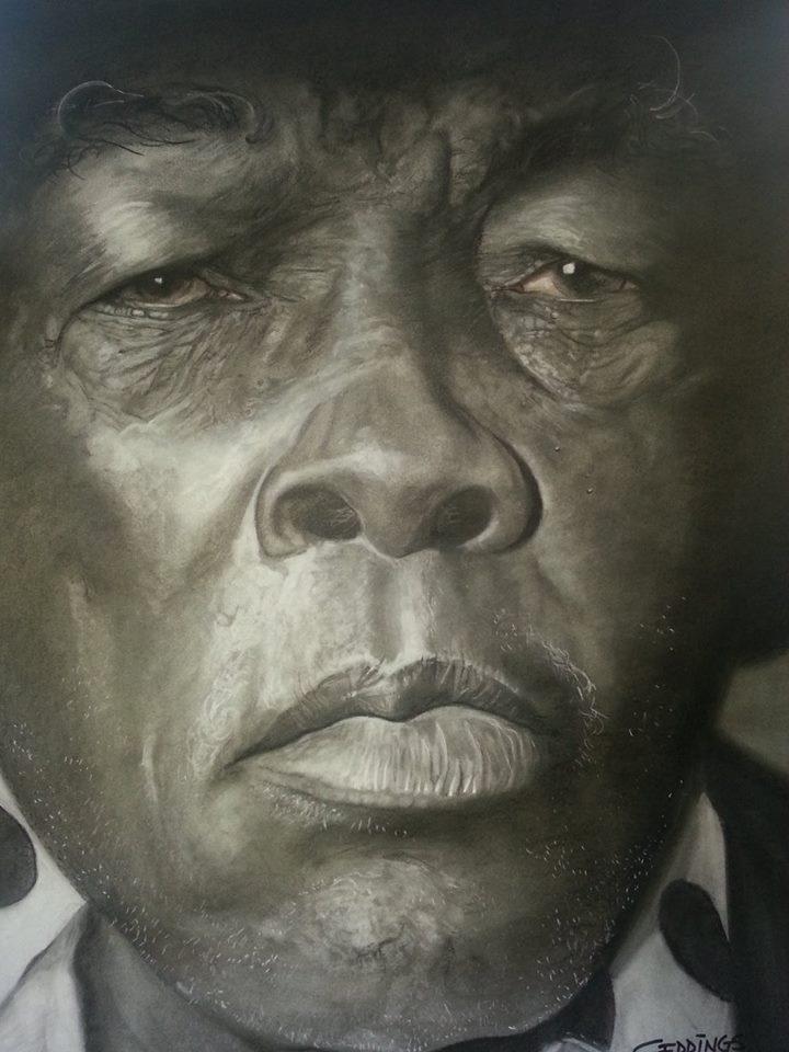 John Lee Hooker by Michael Geddings