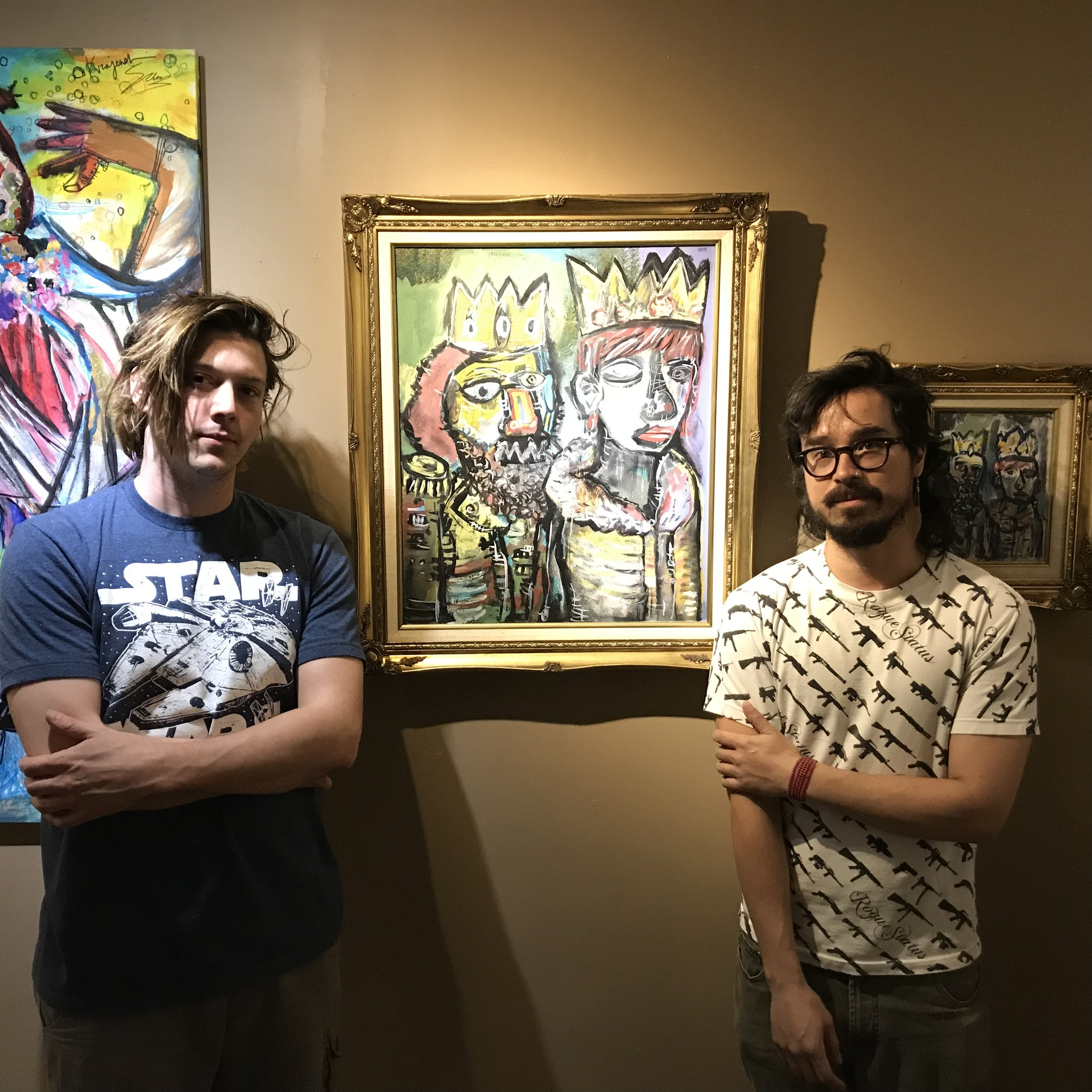 Lucas Sams (left) and Michael Krajewski