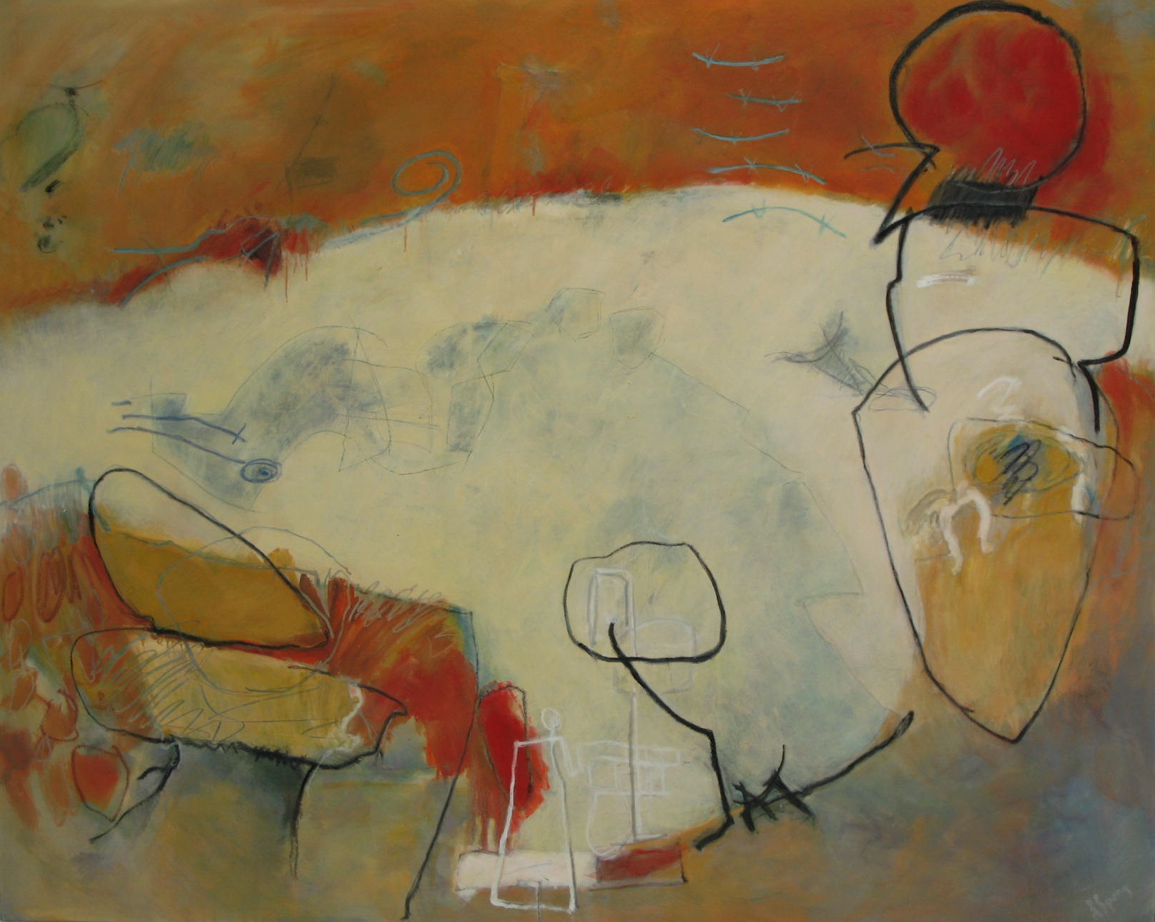 Laura Spong, Mostly It's a Journey, 2008, oil on canvas, 48 x 60 in. (if ART Gallery)