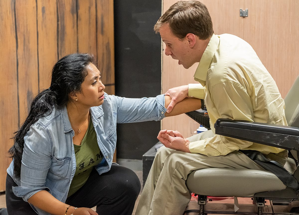 Pictured Ellen Rodillo-Fowler and Bauer Wesetren - photo courtesy of Trustus Theatre