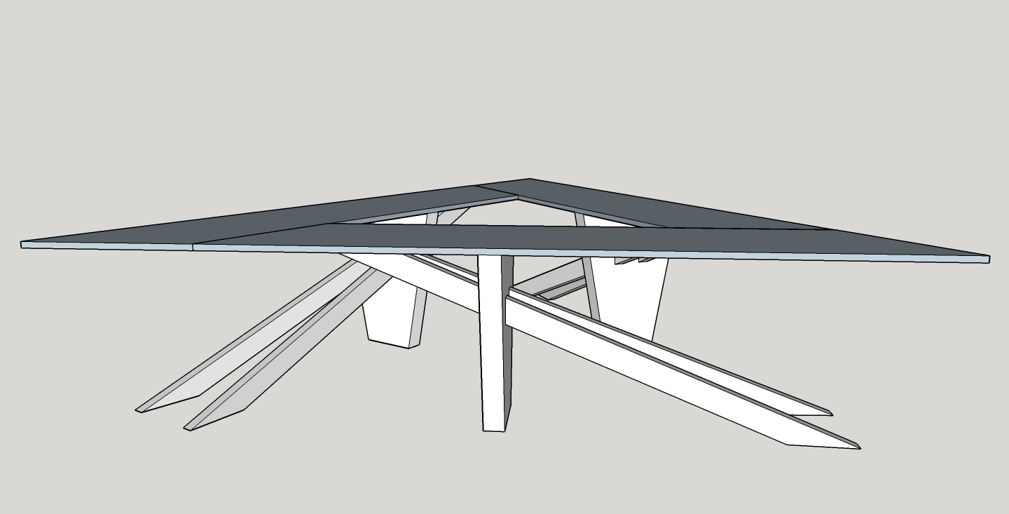 Sketch of the 12' x 12' x 12' table created by Jordan Morris, Maker Coordinator for Richland Library