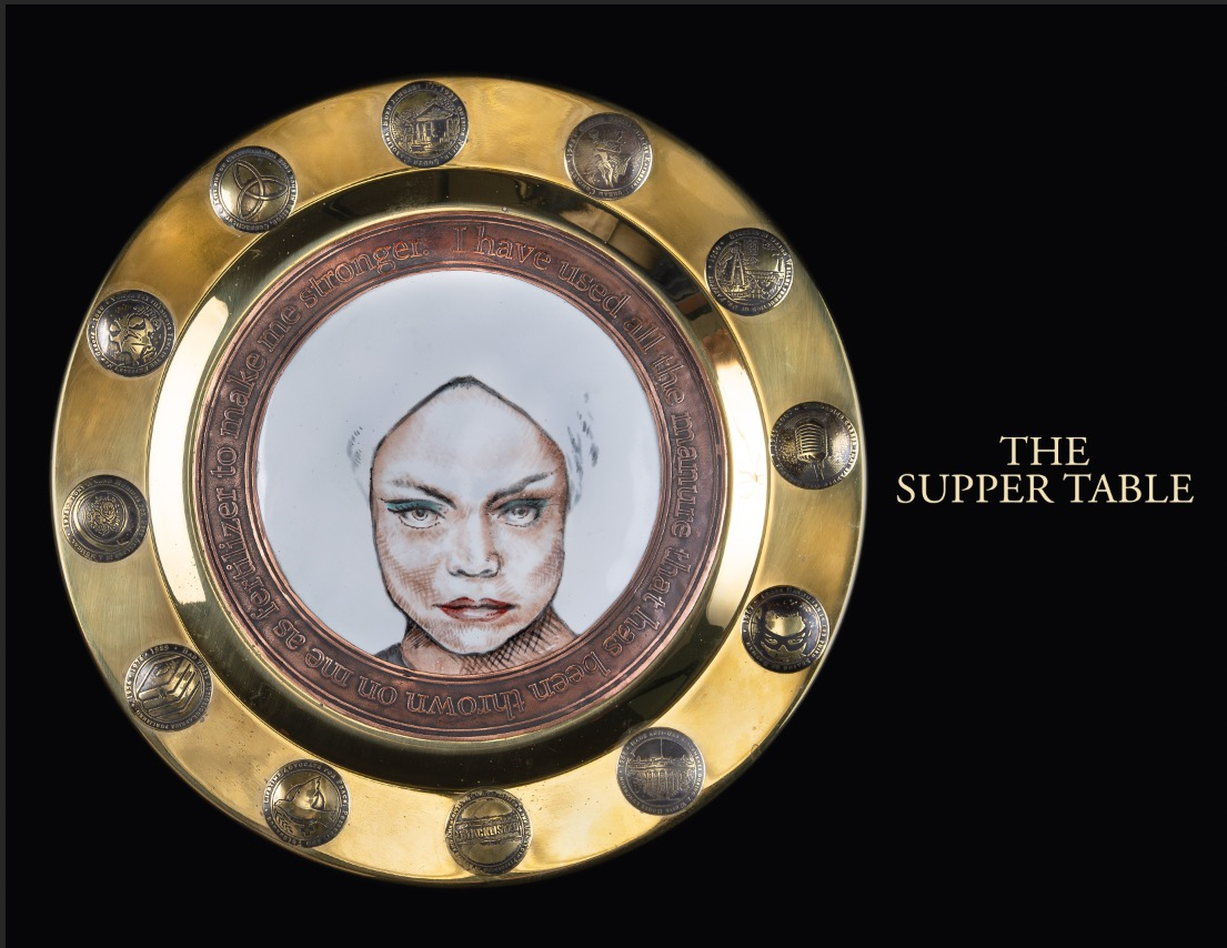 The plate from Mana Hewitt's place-setting honoring the legendary Eartha Kitt.