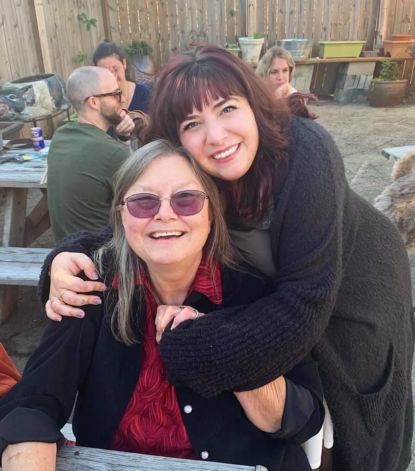 Christina and author Dorothy Allison -Deckle Edge 2019
