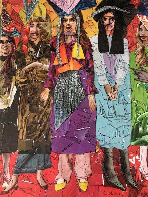 Women in Hats by Ginny Merett