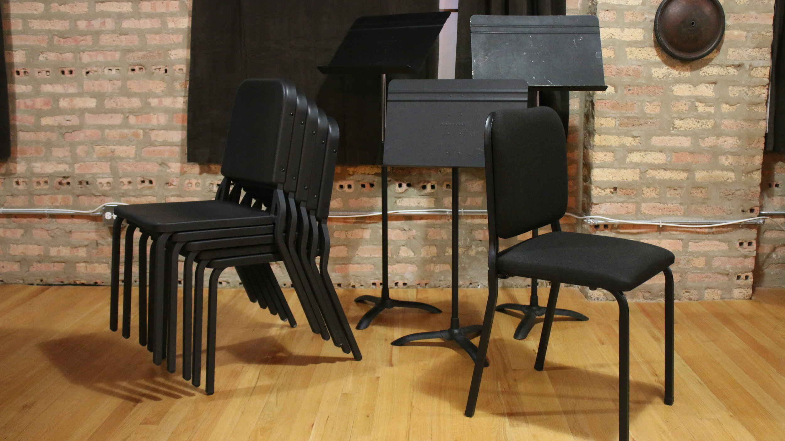 In-Venue Music Stands and Rehearsal Chairs