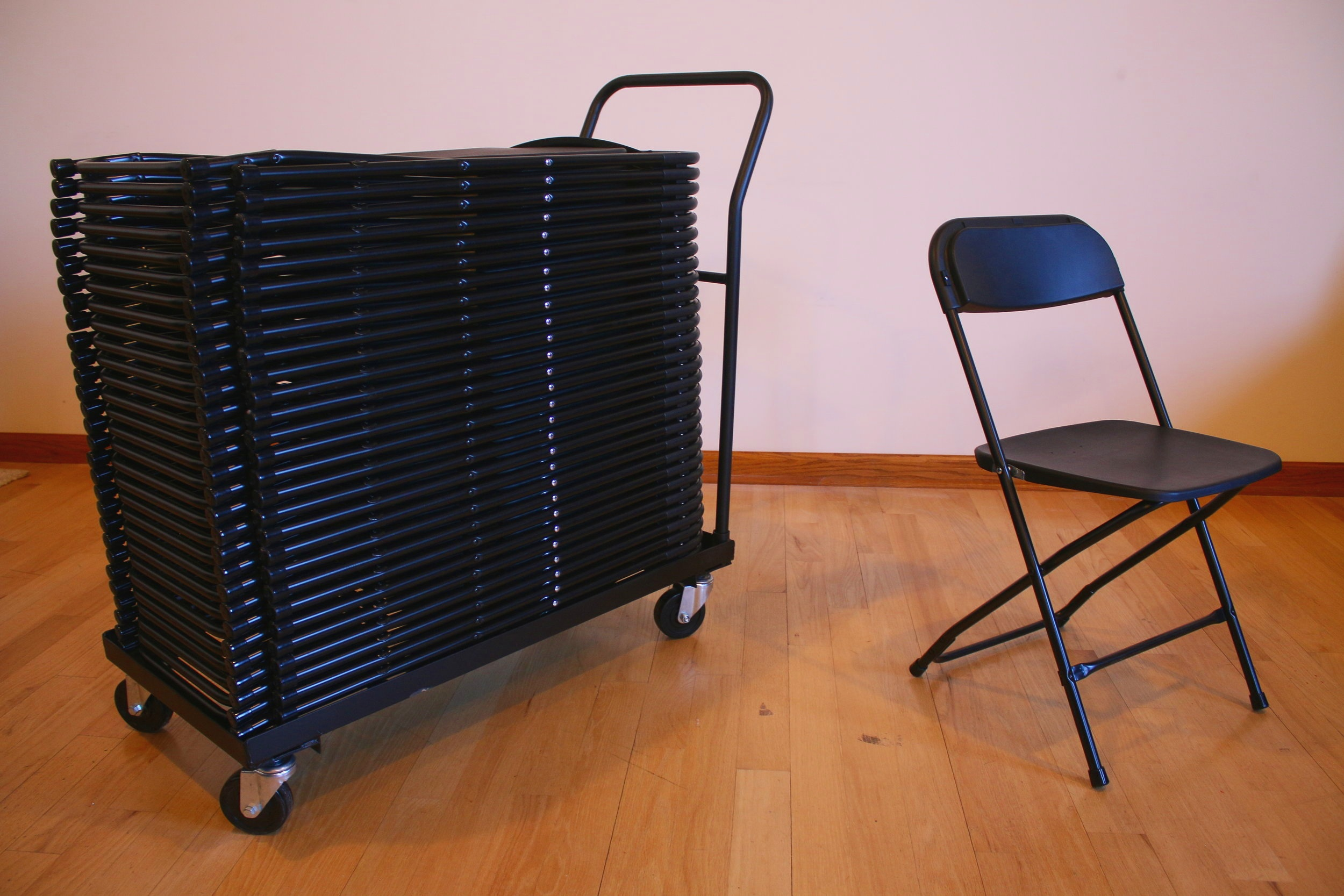 30 additional folding chairs, for seating up to 40 total