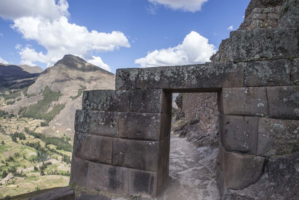 Amazing Inca stonework at Pisac