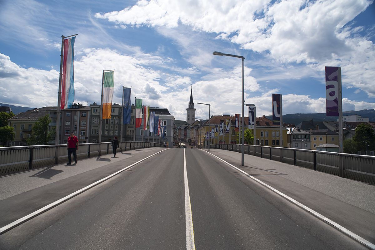 Villach bridge over Drava