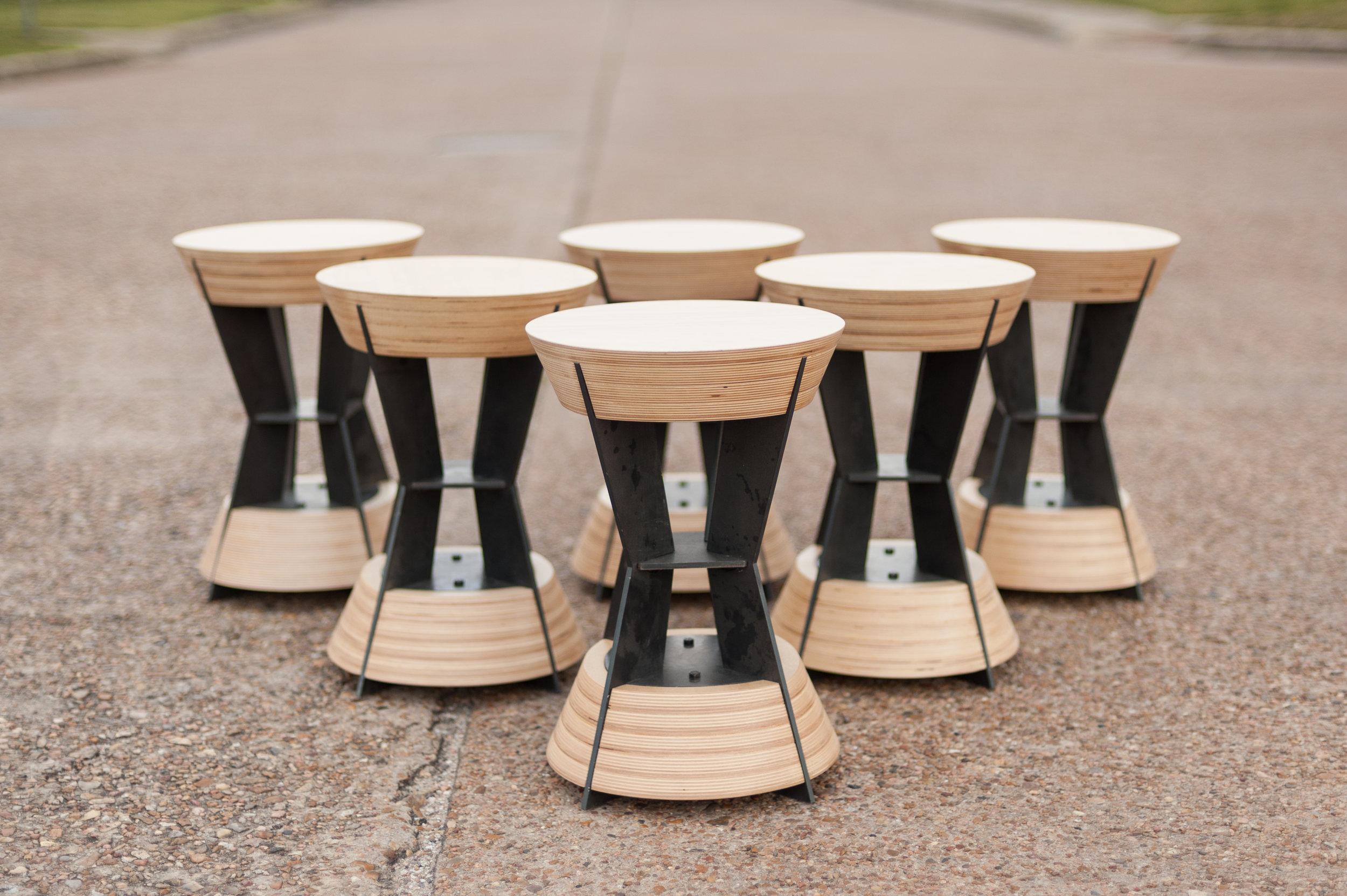 Hourglass stool