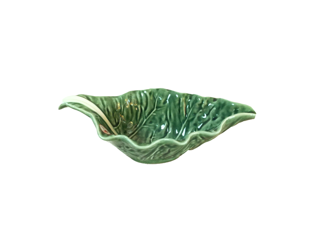 Ceramic Cabbage Leaf Gravy Boat