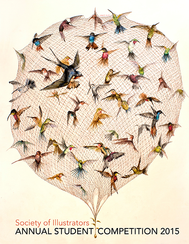 The Swallow and Other Birds | Cover of Society of Illustrators Student Show Annual