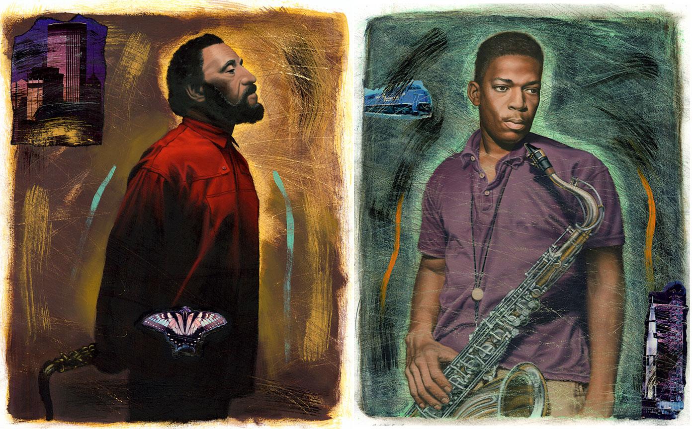 Sonny Rollins + John Coltrane