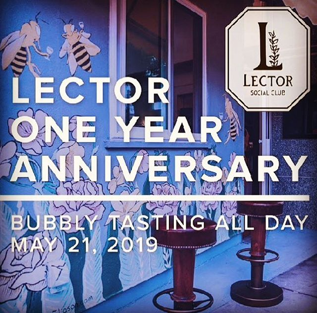 Happy Anniversary, Lector Social Club + Tampa Bay!! 🍾🍾🍾🍾🍾🍾🍾🥂🐝Stay tuned for the next evolution in Natty Wine + Literary Arts + Community Bridging Programs