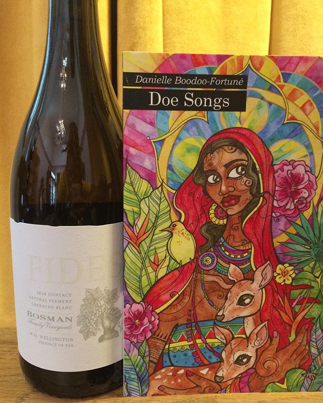 It's #CaribbeanAmericanHeritageMonth! We have several events to celebrate along with placing some phenomenal authors on display! . Come by the shop to check em out and pair with one of our delicious natural wines! . 🍷 Fides Orange Wine by @bosmanwines + 📖 Doe Songs by @dboodoofortune
