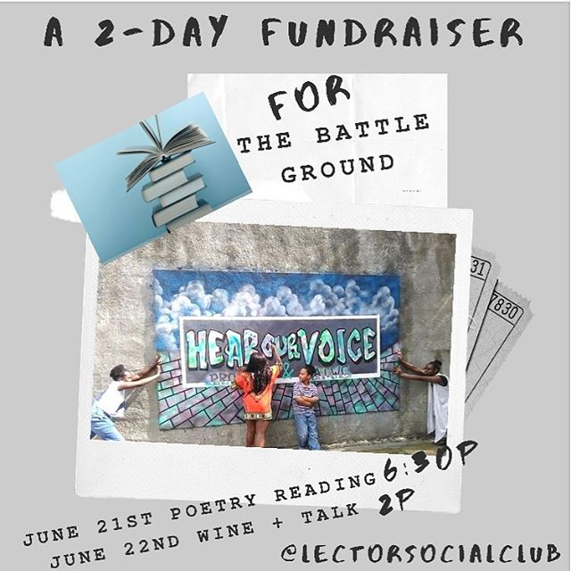 THIS Fri &Sat: Drop by @lectorsocialclub on your way to those Pride parties🌈 & pick up some wine to support a great cause @thebattlegroundsulphursprings 6/21 6:30 readings by @yukijacksonpoet @novicefromthemiddleofaugust @jadedscott @_indoorfireworks @_kingsoul @modernmedusapoetry 6/22 2pm Wine + Talk with @thebattlegroundsulphursprings Founder, @yukijacksonpoet