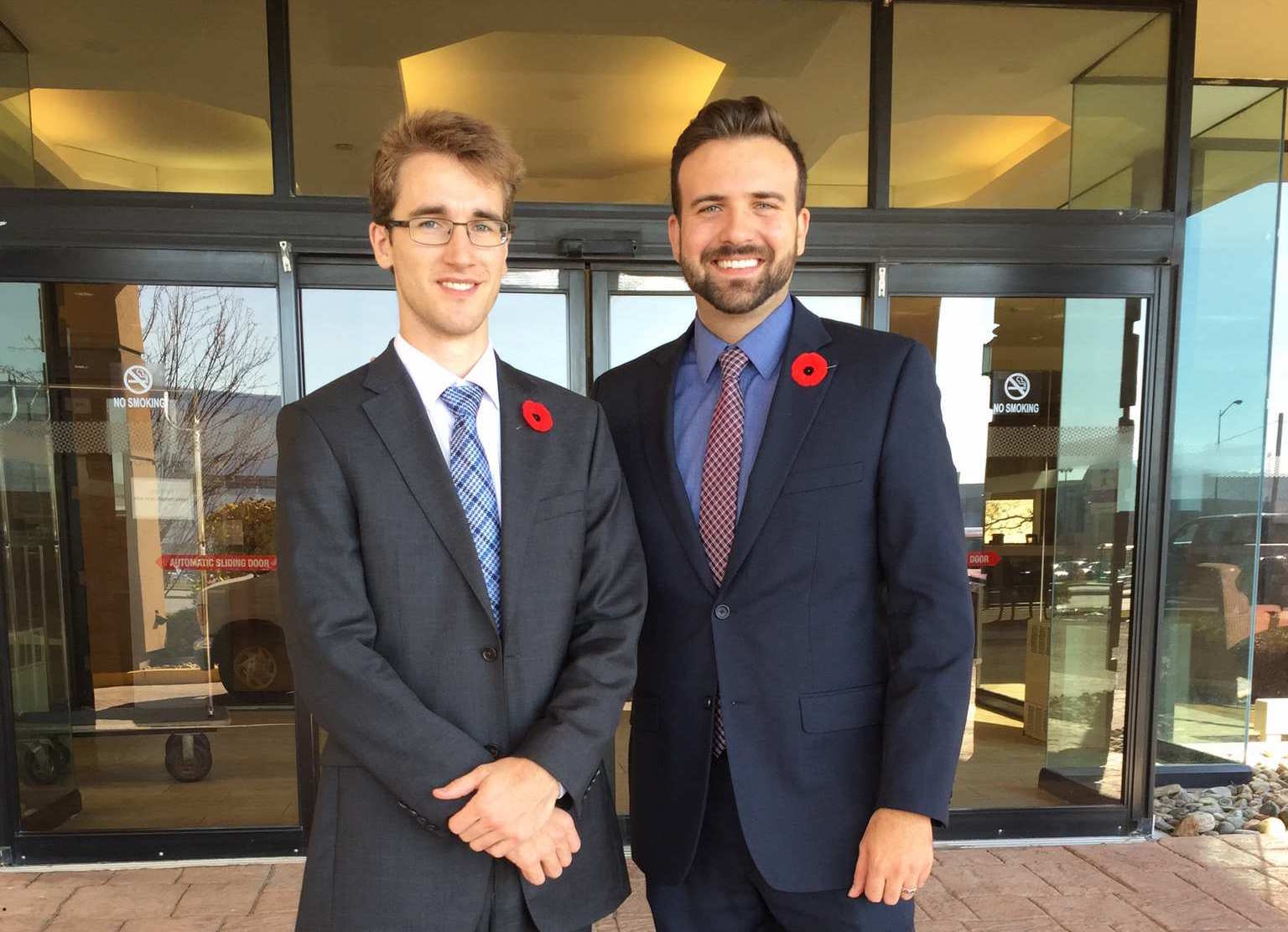 LF's Associate Counsel John Sikkema, left, and Executive Director Derek Ross, right, after completing their submissions to the External Panel on November 3, 2015.