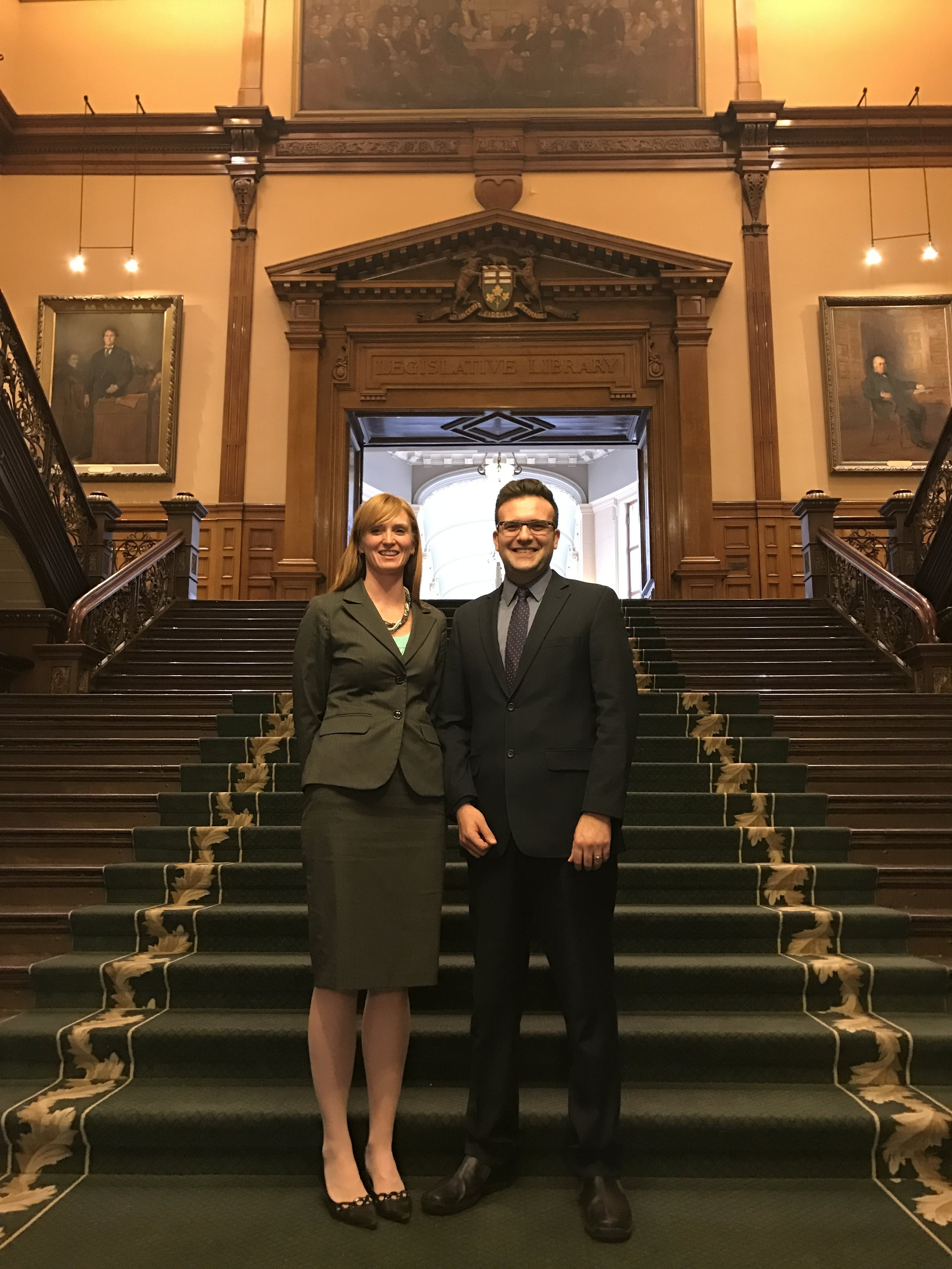 CLF's Deina Warren (Legal Counsel) and Derek Ross (Executive Director & General Counsel) urged the Standing Committee to protect freedom of conscience in Bill 84.