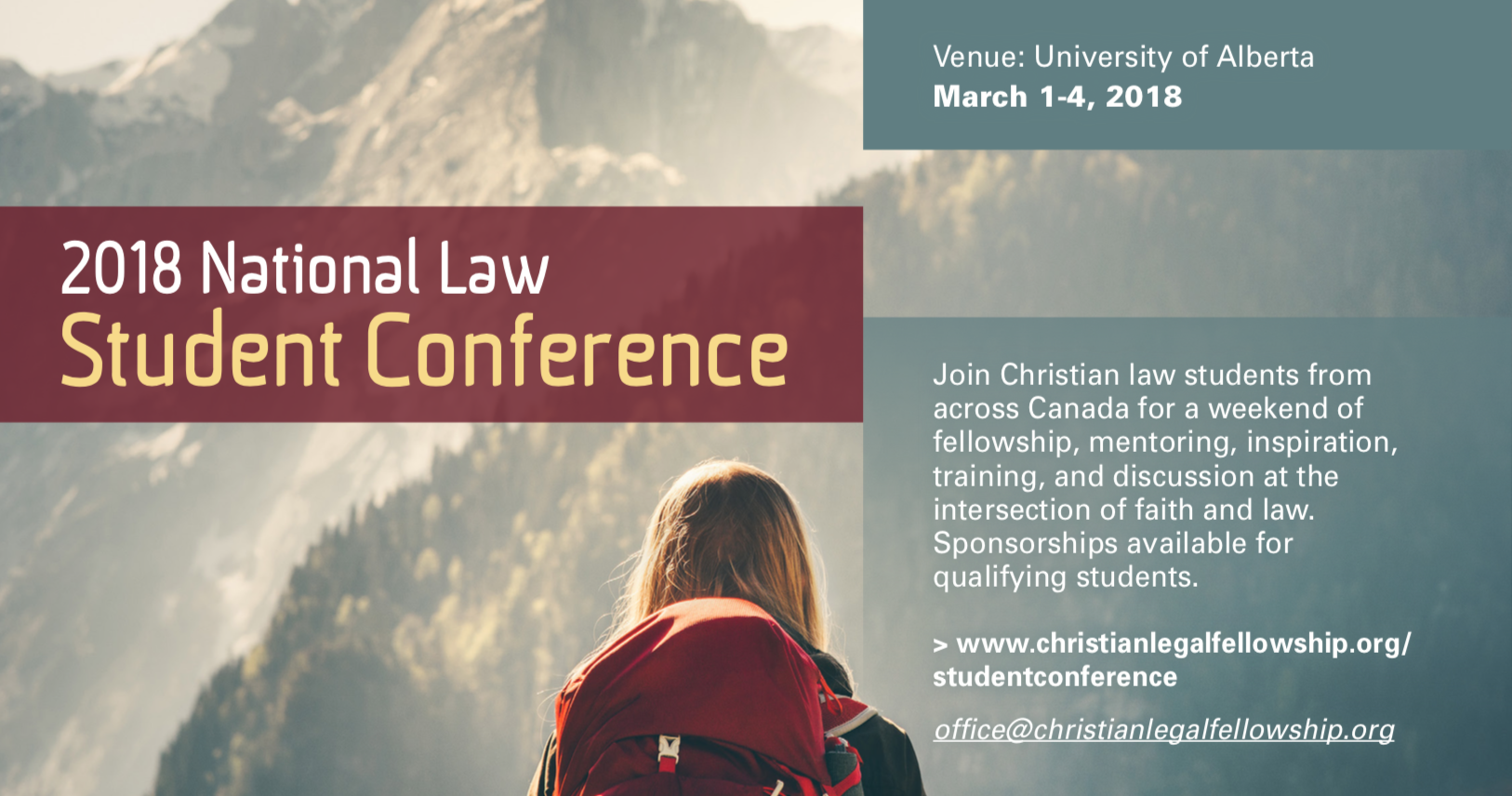 Register now  for the CLF 2018 National Student Law Conference, taking place at the University of Alberta from March 1-4.