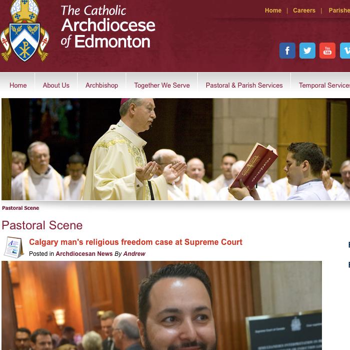 Canadian Catholic News: - Calgary man's religious freedom case at Supreme Court