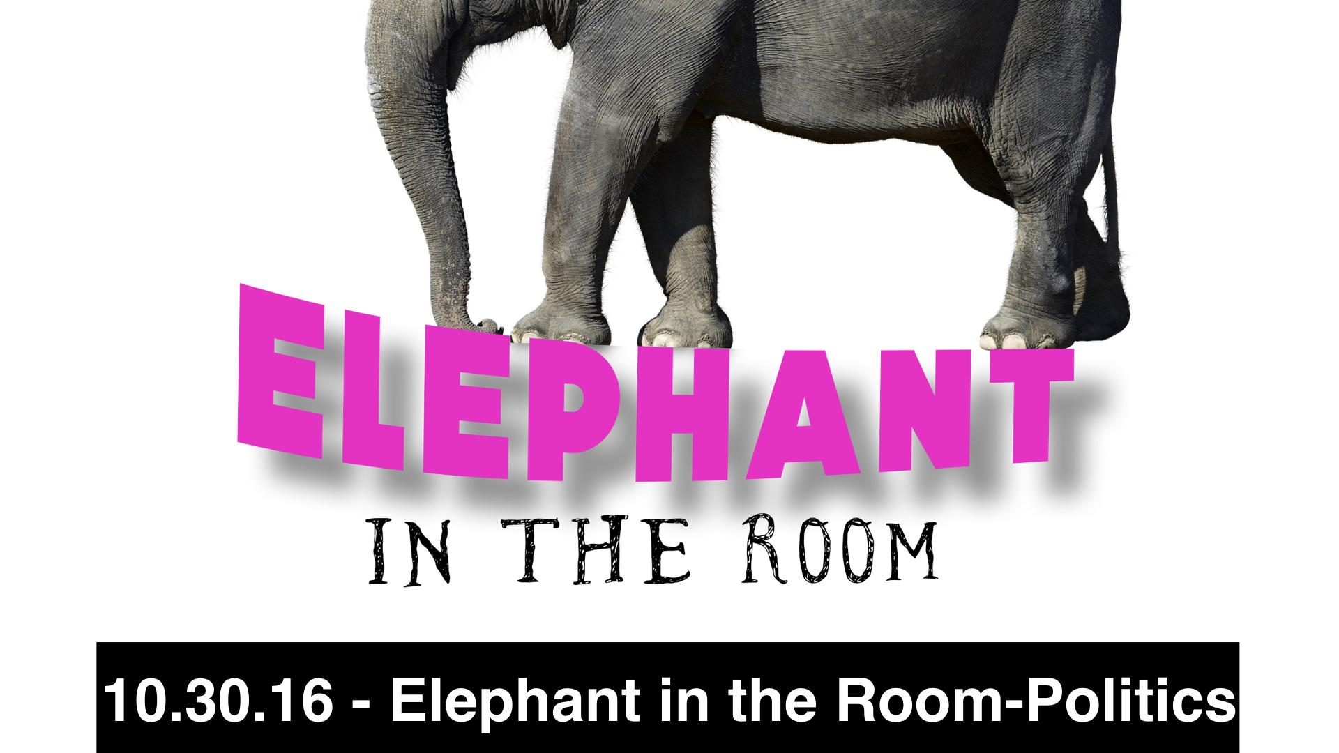 10.30.16 - Elephant in the Room - Politics