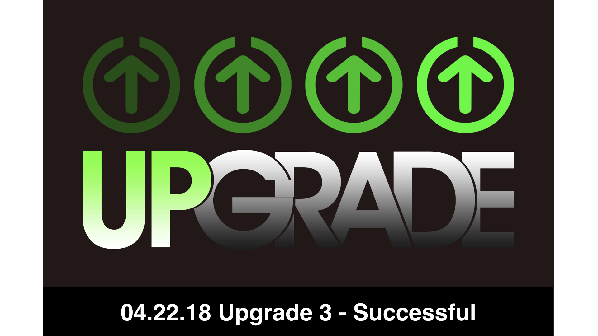 04.22.18 Upgrade 3 - Successful